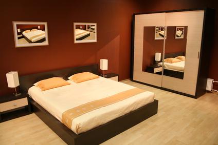 Кафява спалня по проект