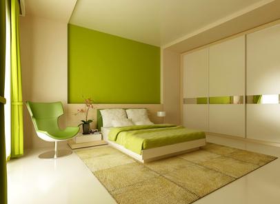 Зелена спалня по поръчка