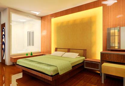 Уютна спалня, добро предложение на дизайн на мебели